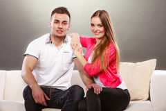 Портрет сь женщины и человека пары счастливые Стоковое Изображение RF