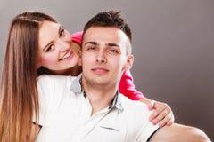 Портрет сь женщины и человека пары счастливые Стоковое фото RF