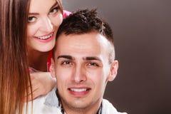 Портрет сь женщины и человека пары счастливые Стоковая Фотография