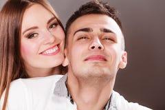 Портрет сь женщины и человека пары счастливые Стоковые Изображения RF