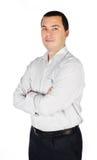 Портрет сь молодого изолированного бизнесмена Стоковое Изображение RF