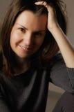 Портрет ся женщины брюнет Стоковое Фото