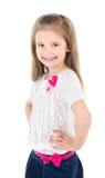 Портрет ся милой изолированной маленькой девочки Стоковое фото RF