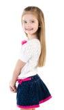Портрет ся милой изолированной маленькой девочки Стоковые Изображения RF