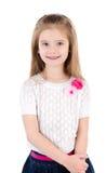 Портрет ся милой изолированной маленькой девочки Стоковое Изображение