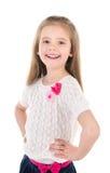 Портрет ся милой изолированной маленькой девочки Стоковые Изображения