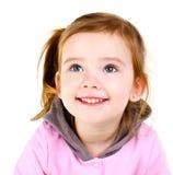 Портрет ся милой изолированной маленькой девочки Стоковая Фотография
