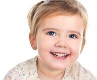 Портрет ся милой изолированной маленькой девочки Стоковое Изображение RF