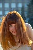 Портрет с волосами девушки Стоковое Фото