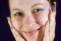 Портрет с цветами Бразилии Стоковые Изображения RF