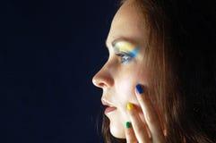 Портрет с цветами Бразилии Стоковое фото RF