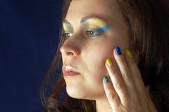 Портрет с цветами Бразилии Стоковые Фото