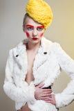 Портрет с шляпой потоков Стоковые Фото