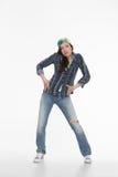 Портрет танцора улицы Стоковое фото RF