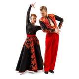 Портрет танцоров в национальных костюмах Стоковая Фотография RF