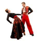 Портрет танцоров в национальных костюмах Стоковые Фотографии RF