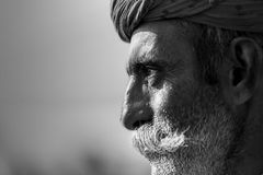 портрет торговца верблюда в pushkar верблюде справедливом Стоковое Изображение RF