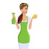 Портрет уборщиков женщины иллюстрация вектора