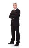 Портрет уверенно бизнесмена при пересеченные оружия Стоковое фото RF