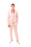 Портрет уверенно молодого изолированного бизнесмена Стоковые Фото