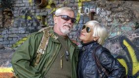 Портрет уверенно пожилых пар Стоковое Фото