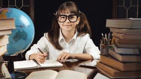 Портрет умной школьницы Стоковая Фотография