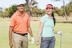 Портрет умных пар игрока в гольф Стоковые Изображения RF