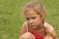 Портрет унылого ребенка стоковые изображения