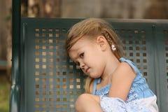 Портрет унылого ребенка стоковые изображения rf