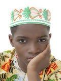 Портрет унылого изолированного мальчика, 10 лет, Стоковые Изображения RF