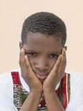 Портрет унылого мальчика, 10 лет Стоковые Изображения RF