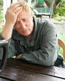 Портрет унылого пожилого человека Стоковые Фотографии RF