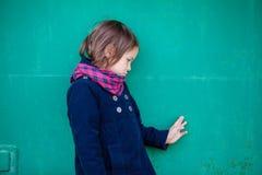 Портрет унылой девушки preschooler Стоковое Изображение RF