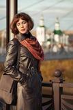 Портрет унылой красивой женщины моды внешней Стоковые Изображения RF