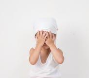 Портрет унылой маленькой девочки Стоковые Фотографии RF