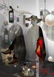 Портрет усаживания женщины Стоковая Фотография RF