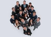 Портрет усмехаясь бизнесменов против белой предпосылки Стоковая Фотография RF