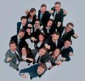 Портрет усмехаясь бизнесменов против белой предпосылки Стоковое Фото