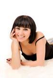 Портрет усмехаясь женщины с совершенными белыми зубами. стоковое фото