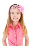 Портрет усмехаясь милой изолированной маленькой девочки Стоковые Изображения RF