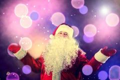 Портрет усмехаясь Санта Клауса Стоковое Фото