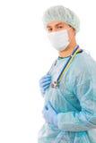 Портрет успешного молодого доктора стоковое фото rf
