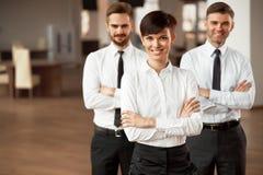 Портрет успешных бизнесменов команды Стоковые Фото
