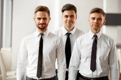 Портрет успешных бизнесменов команды Стоковые Изображения