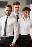 Портрет успешных бизнесменов команды Стоковое фото RF