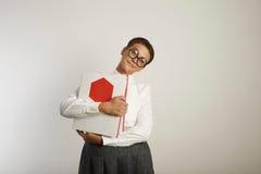 Портрет утомленного учителя с связывателями стоковые изображения