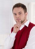 Портрет удовлетворенного бухгалтера на офисе. Стоковое фото RF