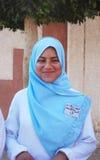 Портрет улыбки молодой женщины пристойной в Египте Стоковая Фотография