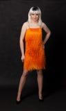 Портрет ферзя сопротивления. Человек одетьнный как женщина Стоковое Фото