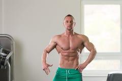 Портрет физически приспособленного мышечного молодого человека Стоковая Фотография